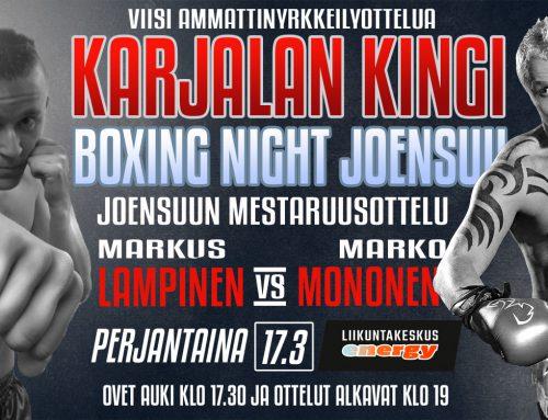 Boxing night Joensuu – Karjalan kingi 17.3.2017